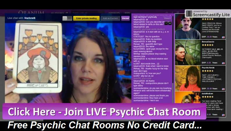 Free Psychic Chat Rooms No Credit Card
